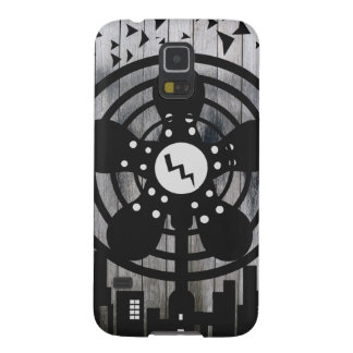 Retro Electric Fan City at Night Galaxy S5 Cases
