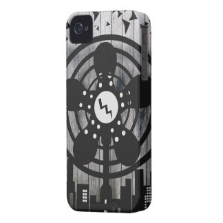Retro Electric Fan City at Night iPhone 4 Cases