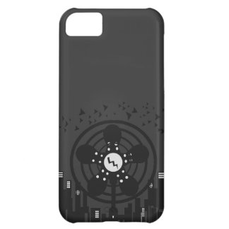 Retro Electric Fan City at Night iPhone 5C Cover