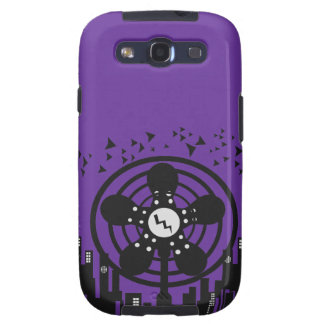 Retro Electric Fan City at Night Samsung Galaxy S3 Case