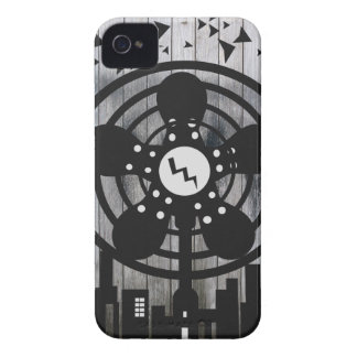 Retro Electric Fan City at Night iPhone 4 Case-Mate Cases