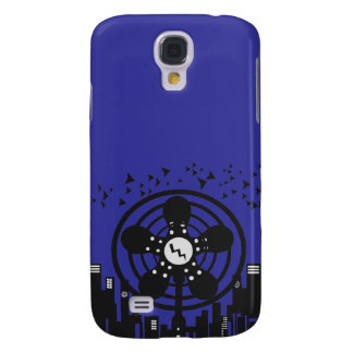 Retro Electric Fan City at Night Galaxy S4 Covers