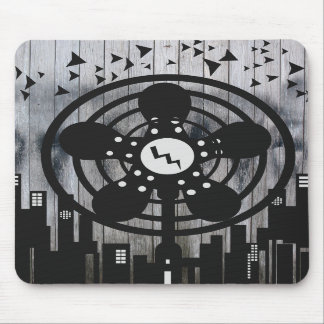 Retro Electric Fan City at Night Mouse Pad