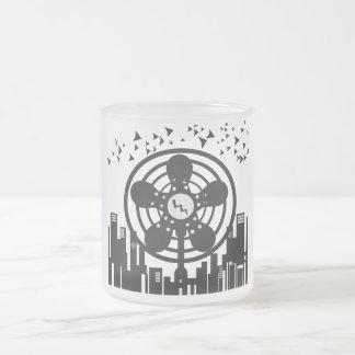 Retro Electric Fan City at Night Coffee Mugs