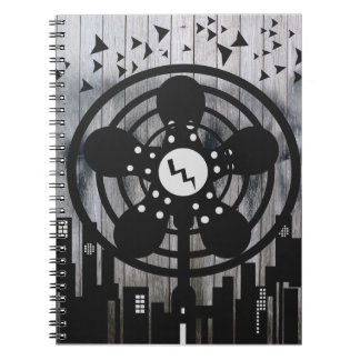 Retro Electric Fan City at Night Spiral Note Book