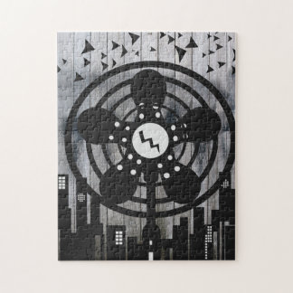 Retro Electric Fan City at Night Puzzles