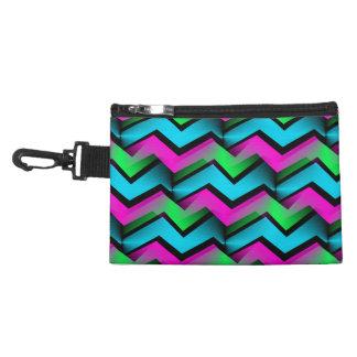 Retro Electric Rainbow Zigzag Pattern Accessories Bag