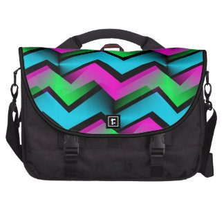 Retro Electric Rainbow Zigzag Pattern Bags For Laptop