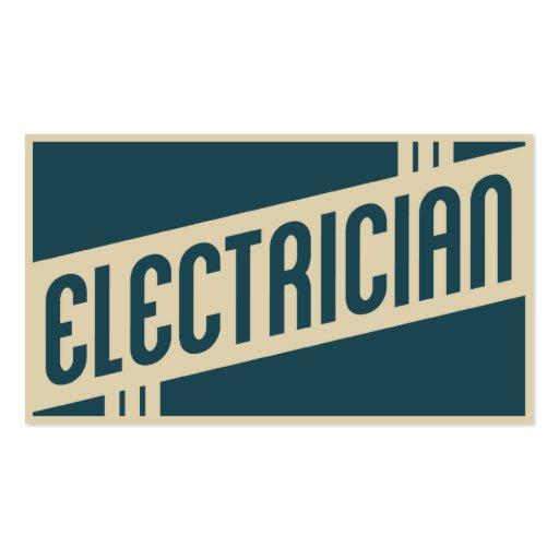 retro electrician business card