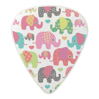 retro elephant kids pattern wallpaper acetal guitar pick