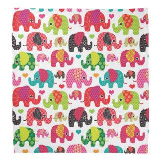 retro elephant kids pattern wallpaper bandana