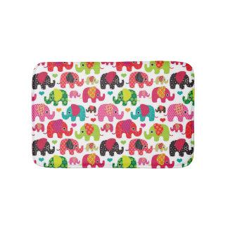 retro elephant kids pattern wallpaper bath mat