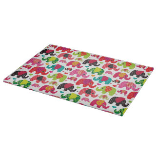 retro elephant kids pattern wallpaper cutting board