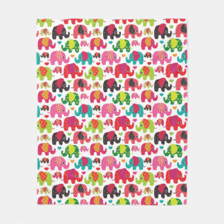 retro elephant kids pattern wallpaper fleece blanket