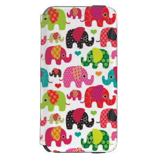 retro elephant kids pattern wallpaper incipio watson™ iPhone 6 wallet case