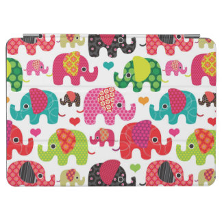retro elephant kids pattern wallpaper iPad air cover