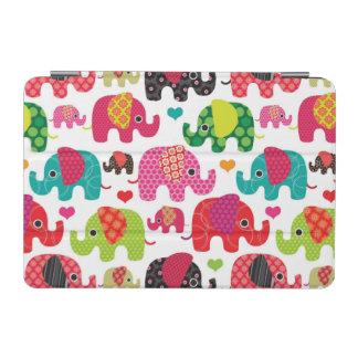 retro elephant kids pattern wallpaper iPad mini cover