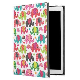 "retro elephant kids pattern wallpaper iPad pro 12.9"" case"
