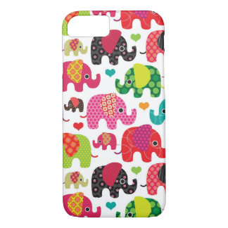 retro elephant kids pattern wallpaper iPhone 8/7 case