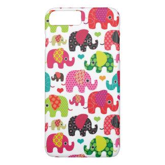 retro elephant kids pattern wallpaper iPhone 8 plus/7 plus case