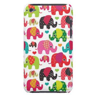 retro elephant kids pattern wallpaper iPod touch Case-Mate case