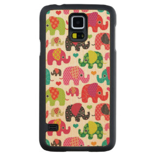 retro elephant kids pattern wallpaper maple galaxy s5 slim case