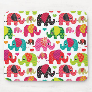 retro elephant kids pattern wallpaper mouse pad