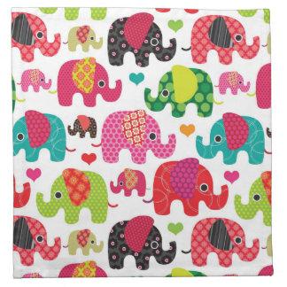 retro elephant kids pattern wallpaper napkin