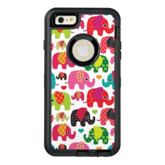retro elephant kids pattern wallpaper OtterBox defender iPhone case