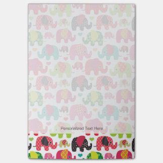 retro elephant kids pattern wallpaper post-it notes
