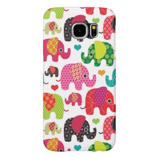 retro elephant kids pattern wallpaper samsung galaxy s6 cases