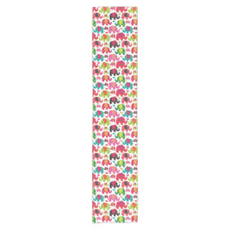 retro elephant kids pattern wallpaper short table runner