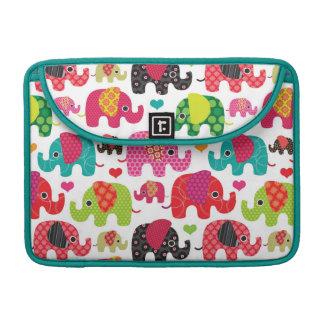 retro elephant kids pattern wallpaper sleeve for MacBooks
