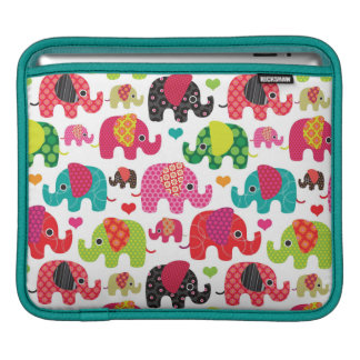 retro elephant kids pattern wallpaper sleeves for iPads