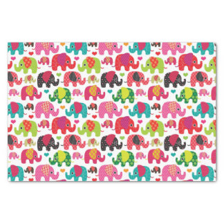 retro elephant kids pattern wallpaper tissue paper