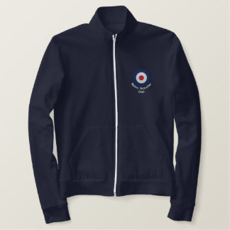Retro Embroidered Mod Scooter target fleece jogger Embroidered Jackets