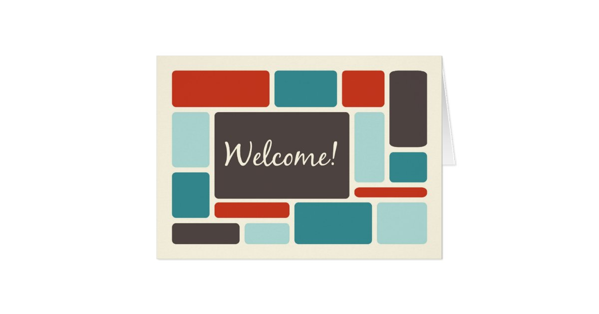 retro employee welcome to the team card. Black Bedroom Furniture Sets. Home Design Ideas