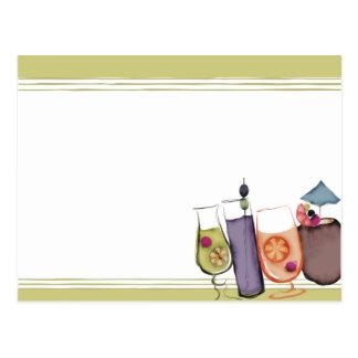 retro exotic drinks party planner bartender market postcard