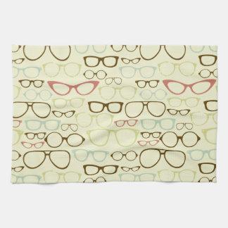 Retro Eyeglass Hipster Hand Towel