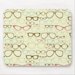 Retro Eyeglass Hipster Mouse Pad