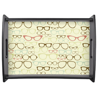 Retro Eyeglass Hipster Serving Tray