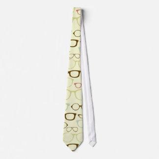 Retro Eyeglass Hipster Tie