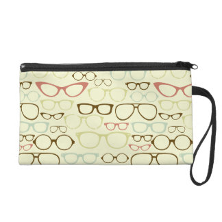 Retro Eyeglass Hipster Wristlet Clutches