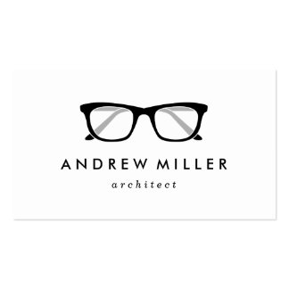 Retro Eyeglasses Stylish Wayfarers Business Card