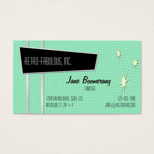 Retro-Fabulous Horizontal Business Cards