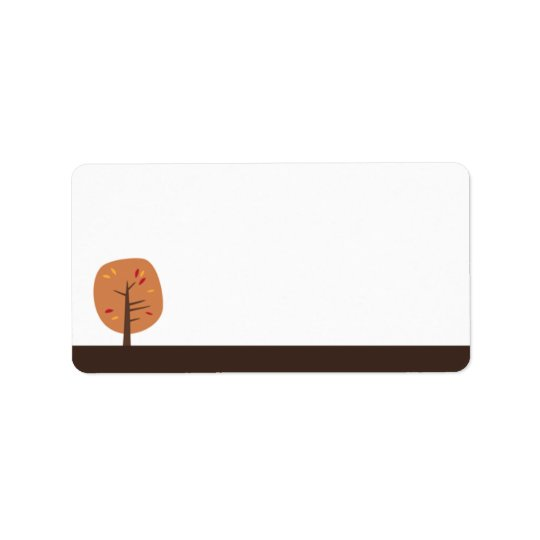 Retro Fall Trees | Address Label