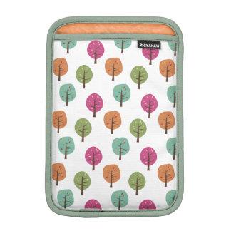 Retro Fall Trees Pattern Sleeve For iPad Mini