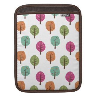 Retro Fall Trees Pattern Sleeves For iPads