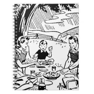 Retro Family Picnic Notebook