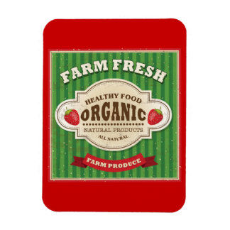 Retro Farm Fresh Poster Design Rectangular Photo Magnet